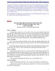Tuyển tập 25 đề thi học sinh giỏi Hóa học lớp 9 (kèm đáp án) (by Dameva)