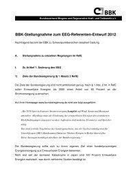 BBK-Stellungnahme zum EEG-Referenten-Entwurf 2012