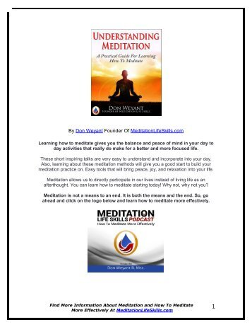 Don Weyant The Beginners Guide To Meditation