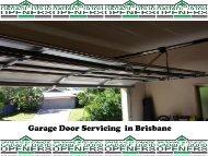 Garage Door Spring Servicing  in Brisbane