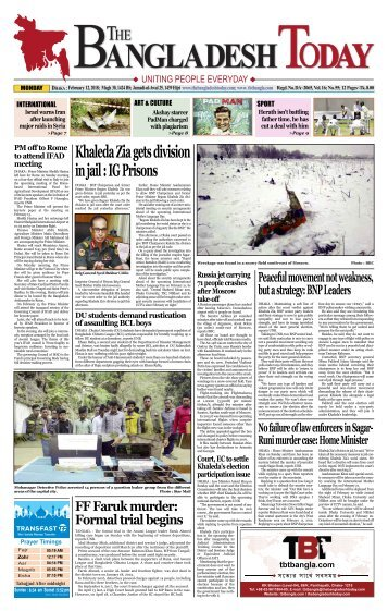 The Bangladesh Today (12-02-2018)