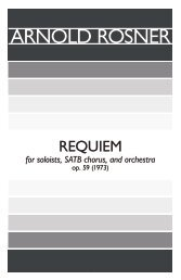 Rosner - Requiem, op. 59