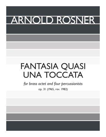 Rosner - Fantasia quasi una Toccata, op. 31