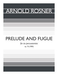 Rosner - Prelude and Fugue, op. 76