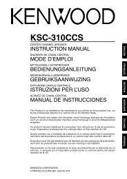Kenwood KSC-310CCS - Car Electronics