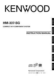Kenwood HM-337-SG - Home Electronics