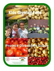 Kids Growing Food - Agriculture in the Classroom