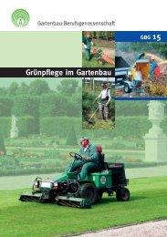 Grünpflege im Gartenbau - GBG 15