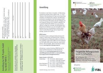 Tiergerechte Haltungssysteme für Geflügel - Verband der ...