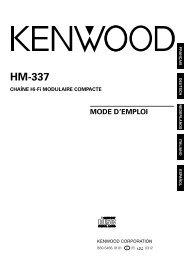 Kenwood HM-337 - Home Electronics