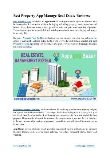 Best Property App Manage Real Estate Business