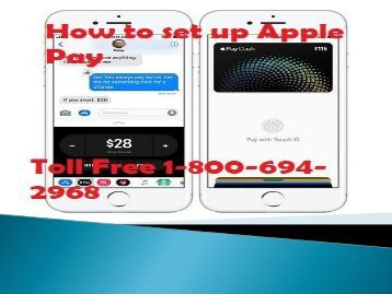 How to Set up Apple Pay Toll-Free 1-800-694-2968