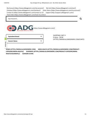 Buy Suhagra 50 mg _ AllDayGeneric