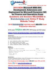 [2018-Feb-Version]New Exam MB6-894 VCE and PDF Dumps 50Q&As Free Share (12-22)