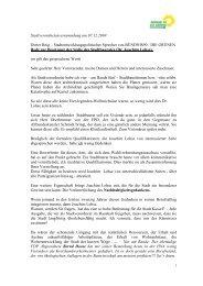 Rede Dieter Beig - Grüne Fraktion im Rathaus Kassel