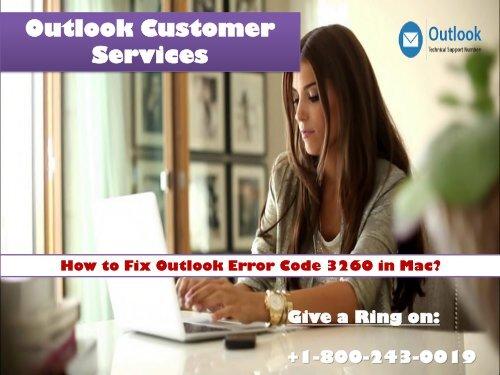 18002430019 Fix Outlook error code 3260 in Mac