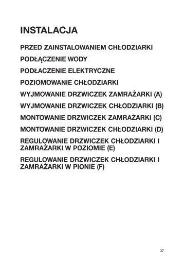 KitchenAid 25RW-D4 PT - 25RW-D4 PT PL (858642211010) Installazione