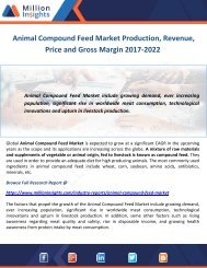 Animal Compound Feed Market Production, Revenue, Price and Gross Margin 2017-2022