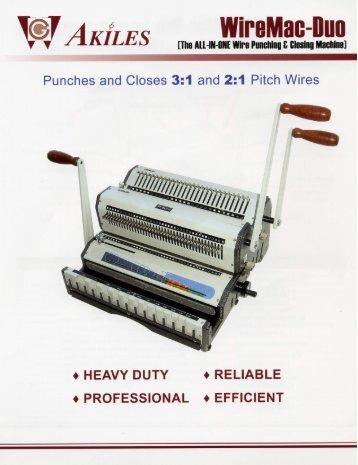 WireMac-Duo Akiles Wire Binding Machine - PrintFinish.com