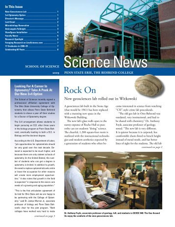 Science News 2009 - Penn State Erie