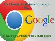 How to Fix Chrome Update Error 11 on a Mac 18002402551