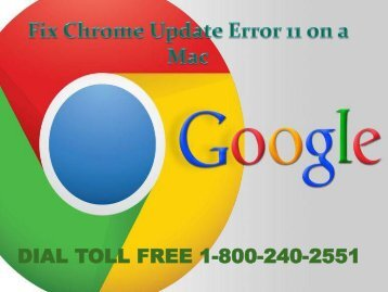 How to Fix Chrome Update Error 11 on a Mac 18002402551