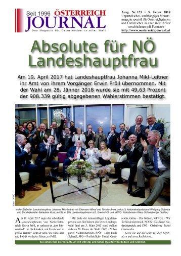 Österreich Journal Ausgabe 171