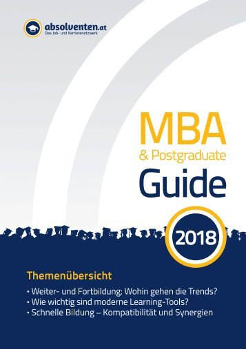 MBA & Postgraduate Guide 2018