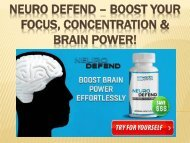 Neuro Defend - Boost Your Energy Level & Cognitive Function