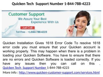 Quicken Tech Support Number 1-844-788-4223
