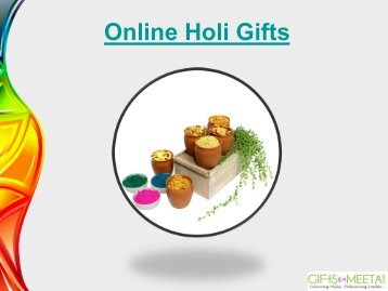 Online Holi Gifts from Giftsbymeeta