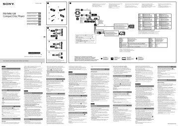 Sony CDX-G1001U - CDX-G1001U Guide d'installation Néerlandais