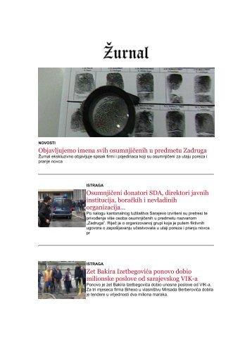 NEWSLETTER ŽURNALA 5.2 - 11.2.2018.godine