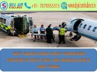 Avail at low-cost Sky Air Ambulance services from Bagdogra to Delhi
