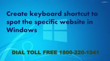 Create keyboard shortcut to spot the specific website in Windows 18002201041
