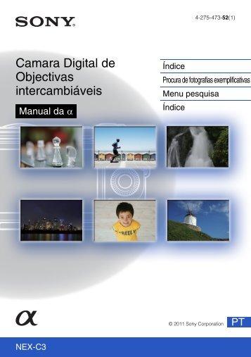 Sony NEX-C3A - NEX-C3A Consignes d'utilisation Portugais