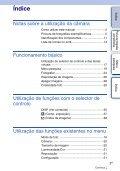 Sony NEX-C3A - NEX-C3A Consignes d'utilisation Portugais - Page 3