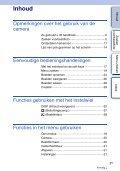 Sony NEX-C3A - NEX-C3A Consignes d'utilisation Néerlandais - Page 3