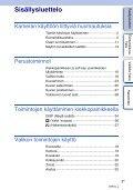 Sony NEX-C3A - NEX-C3A Consignes d'utilisation Finlandais - Page 3
