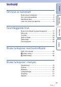 Sony NEX-C3A - NEX-C3A Consignes d'utilisation Norvégien - Page 3