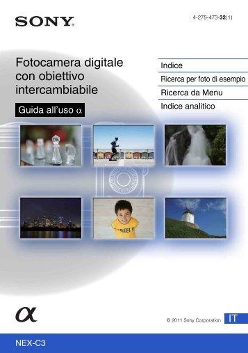 Sony NEX-C3A - NEX-C3A Consignes d'utilisation Italien