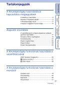 Sony NEX-C3A - NEX-C3A Consignes d'utilisation Hongrois - Page 3