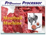 Hamburger Patty Press Makers | Meatball Machines