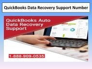 Call 1-888-909-0535 QuickBooks Data Recovery Support Number