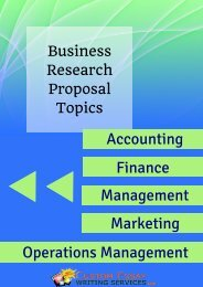 Research Proposal Topics List