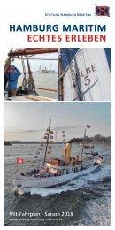 Stiftung Hamburg Maritim - Fahrplanauszug 2018