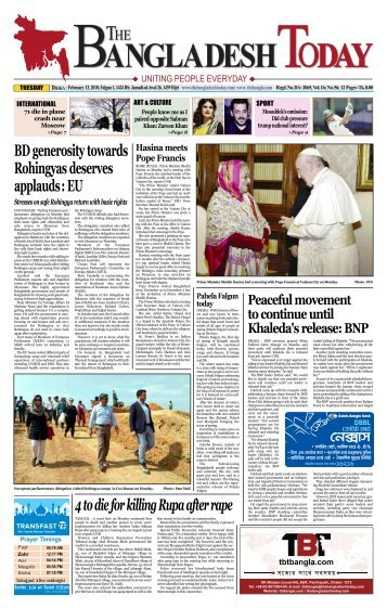 The Bangladesh Today (13-02-2018)