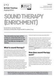 Sound enrichment (therapy) Ver 2.1