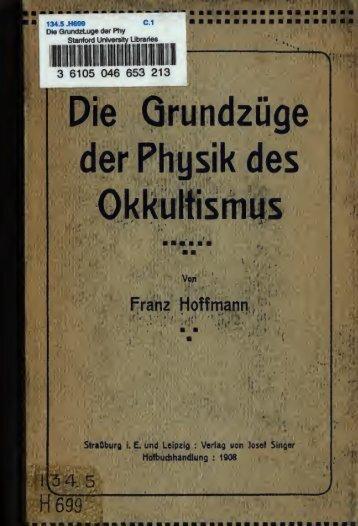 Grundzuege d. Physik des Okkultismus