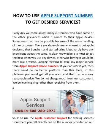 How to use apple support number to get desired services?